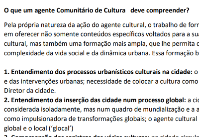 Athos Gonçalves Faroni – O que um Agente Comunitário de Cultura Deve Compreender