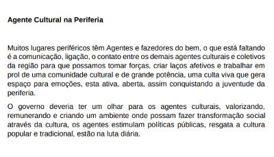 Drica Coelho – Agente Cultural na Periferia
