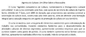 Marcus Tadeu Barbosa Ferreira – Agentes de Cultura: um olhar sobre o necessário