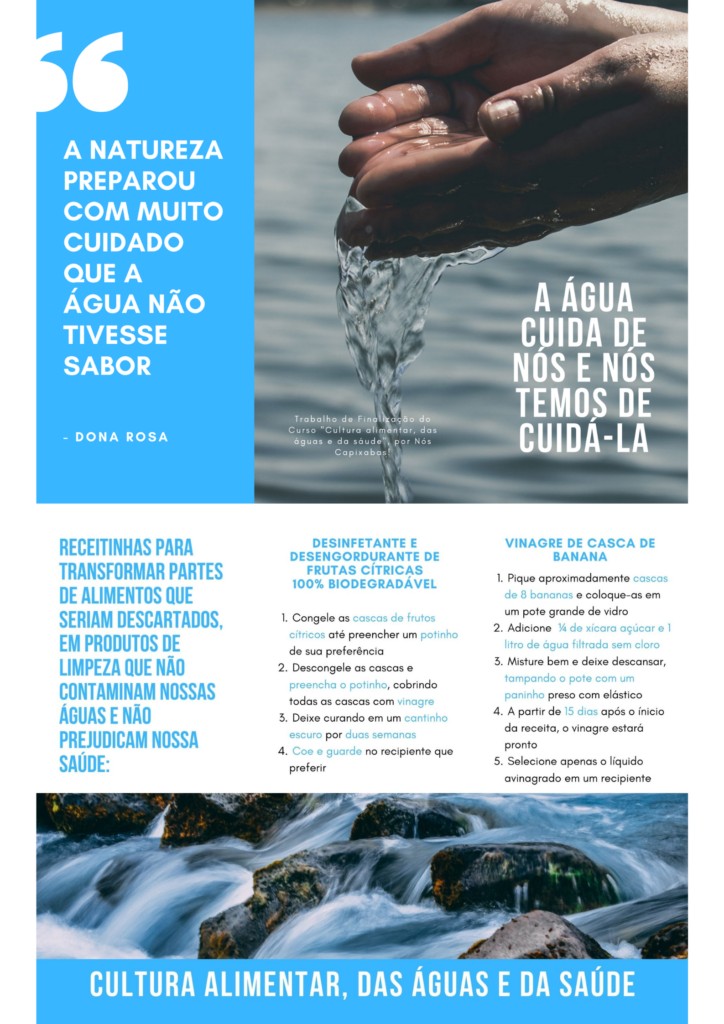 Loruama Geovanna Guedes: A ÁGUA CUIDA DE NÓS E NÓS TEMOS DE CUIDÁ-LA – folder